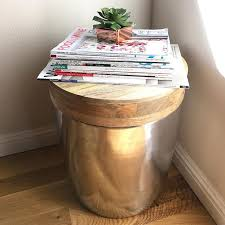 Drum Accent Table Storage Drum Accent Table Gold Threshold Target Finds