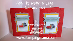 boy will be boys lego birthday card stampin up youtube