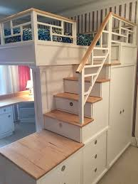 Plans For Building A Loft Bed With Stairs by The 25 Best Bunk Bed With Desk Ideas On Pinterest Girls In Bed