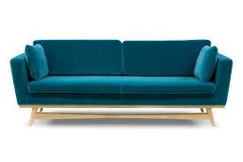 canape bleu 210 de edition tissu velours bleu canard