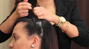 braids in front hair in back how to do a tiara braid from front to back braiding hair youtube
