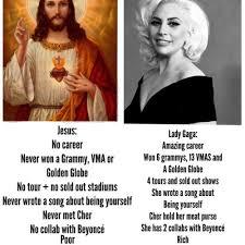 Lady Gaga Memes - jesus vs lady gaga memes and comics