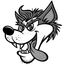 big bad wolf illustration stock vector illustration of