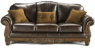 leather sofa millennium shore brown traditional leather sofa