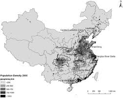 China Population Density Map by Measuring Spatial Structure Of China U0027s Megaregions Journal Of