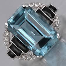 art deco aquamarine ring my style pinterest aquamarines art