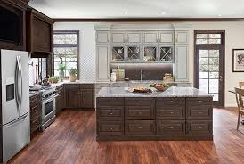 is kraftmaid a cabinet molasses on cherry and aged concrete on maple kitchen cabinetry
