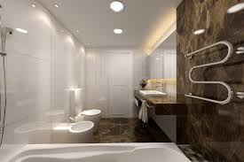 bathroom contemporary bathrooms ideas with brown motif floor