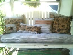 awesome porch swing with cushions suzannawinter com