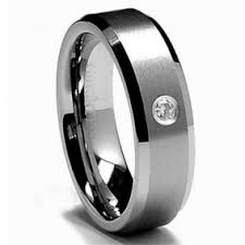 Tungsten Comfort Fit Wedding Bands Mens Wedding Band Black Tungsten Ring Fully Stacked With Cz