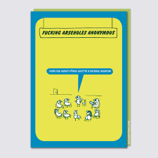 modern toss periodic table of swearing fucking arseholes anonymous card