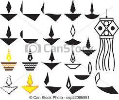 vector illustration of deepak ornamental design collection vector