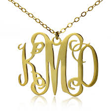 monogrammed necklace cheap 47 what is a monogram necklace gold plated statement monogram