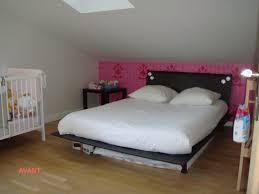 decoration chambre comble avec mur incliné idees tete coucher rangement comble lit et reine charmant avec