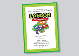 ninja turtle invitation templates
