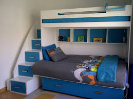 bedroom bunk beds with shelves single over double bunk bed