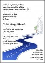 academy graduation invitations 8th grade middle school jr high graduation wording saying verses