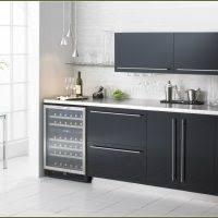 Under Cabinet Wine Fridge by Furniture Black Stained Wooden Wine Cooler Cabinet Under White
