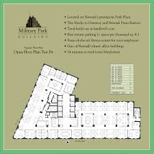 Centralized Floor Plan by Military Park Building Newark New Jersey Berger Organization