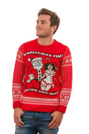 tacky valium and wine sweater for front view
