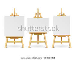 artwork on wooden boards easel stock images royalty free images vectors