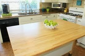clever nest sealing butcher block kitchen reveal