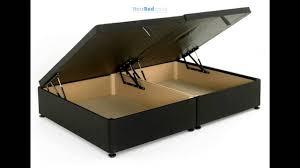 regent 6ft super king size ottoman storage divan bed base in black