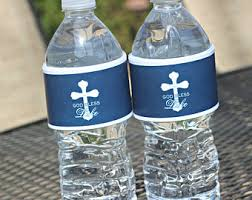 Decorate Water Bottle Baptism Water Bottle Etsy