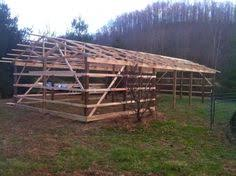 How To Build A Pole Shed Roof by How To Build An Inexpensive Pole Barn Http Www Ecosnippets Com