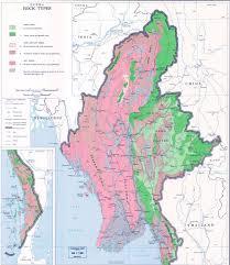 Map Types Myanmar Burma Rock Types Map Myanmar Burma U2022 Mappery