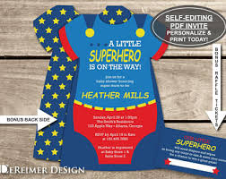 Batman Baby Shower Decorations Superhero Baby Shower Etsy
