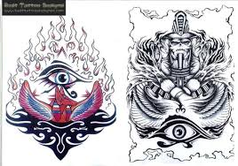 biomechanical egyptian mummy face tattoo design photos pictures