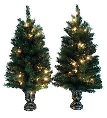 home accent set of 2 pre lit porch tree set the home