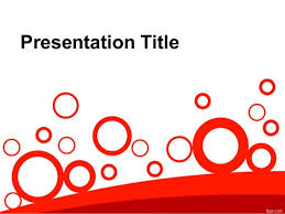 abstract powerpoint design free powerpoint template with red art cir u2026