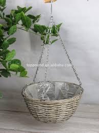 panier rond en osier rond en osier panier suspendu avec une chaîne de fer utilisé pour