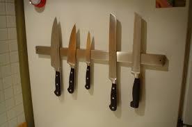 kitchen knives holder magnetic hacks ikea hackers