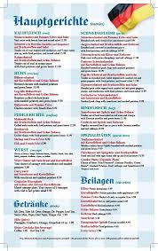 german cuisine menu menu in german photo 1 cooking wise from all