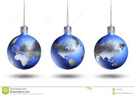 earth as isolated bauble stock image image 17310631