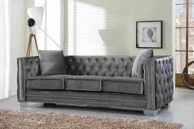 Gordon Tufted Sofa by Grey Velvet Tufted Sofa Sofa And Chair Information