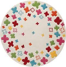 kinderzimmer teppich rund esprit kinder teppich bloom field esp 2980 01 beige öko tex 100