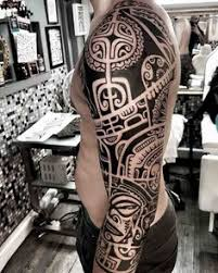 tribal sleeve tattoo tribal tattoos pinterest