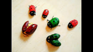 how to make bugs out of pistachio shell diy cute ladybird youtube