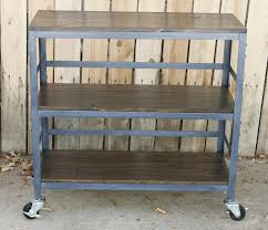 photo album collection kitchen cart on wheels all can download kitchen vintage metal and wood kitchen island cart with two tier shelf placed on concrete floor
