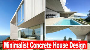 amazing minimalist concrete house design youtube