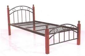 Cheapest Single Bed Frame Cheap Metal Single Bed With Wooden Legs Buy Single Metal Bed