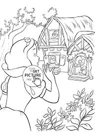 snow white coloring pages kids printable free coloing 4kids