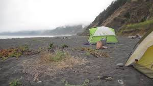 Black Sands Beach Camping At Black Sand Beach Shelter Cove Ca Youtube