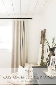 diy custom lined curtains it u0027s easier than you think making