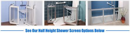 Disabled Half Height Shower Doors Half Height Shower Screens