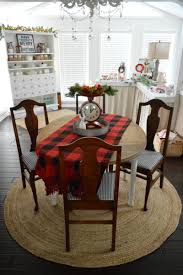 buffalo check table runner cottage christmas home tour with country living apothecary cabinet